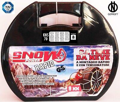 Catene da neve omologate 9 mm GRUPPO da 80 Pneumatici 1957514 e altri