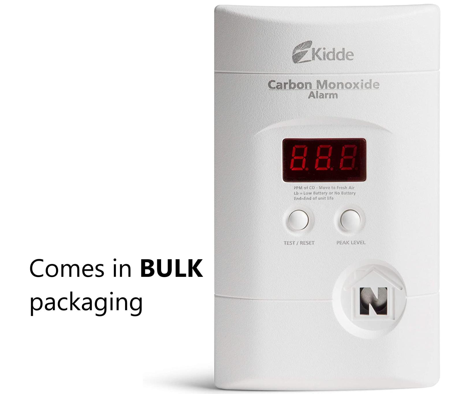 Kidde Nighthawk Plug-In Carbon Monoxide Alarm + Battery Back