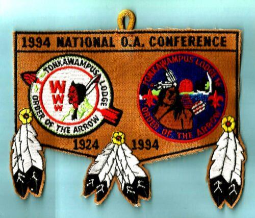 OA Lodge 16 S- TONKAWAMPUS 1994 NOAC, c/e mgd Boy Scout flap, MN Viking Council