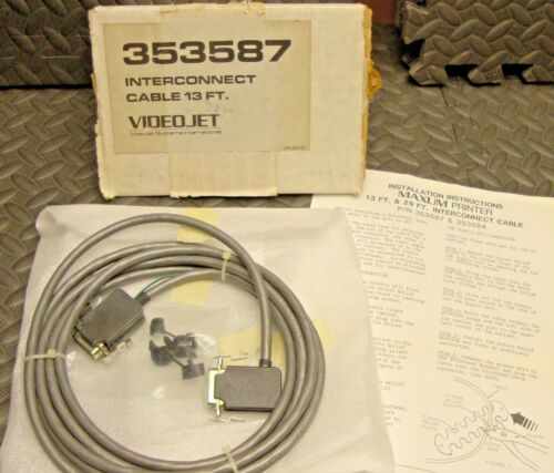 NEW Videojet 353587 Maxum Printer Interconnect 13 foot cable