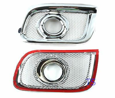 Chrome Spot Lights Fog Lamps Cover Fit Toyota Hiace 4X4 Commuter Van 2005 07 08