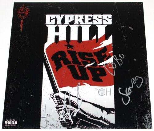 CYPRESS HILL SIGNED 'RISE UP' 12x12 ALBUM FLAT PHOTO w/COA HIP HOP B-REAL X3