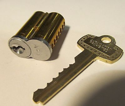 NEW 7-PIN BRASS/STAINLESS LOCK CORE WITH DUPLICATION PROHIBITED KEY BEST/
