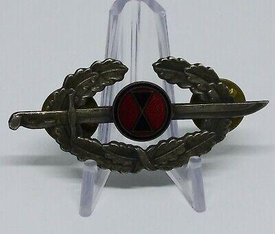 Rare Korean War Japanese Made US Army Bayonet (7th Division) Badge
