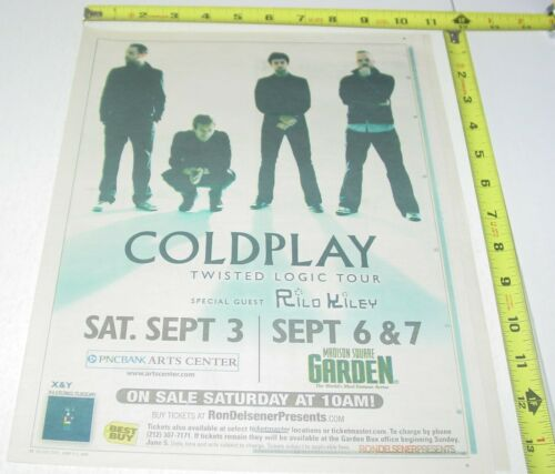 Coldplay Concert AD Advert 2005 Twisted Logic Tour PNC Bank Arts Holmdel NJ