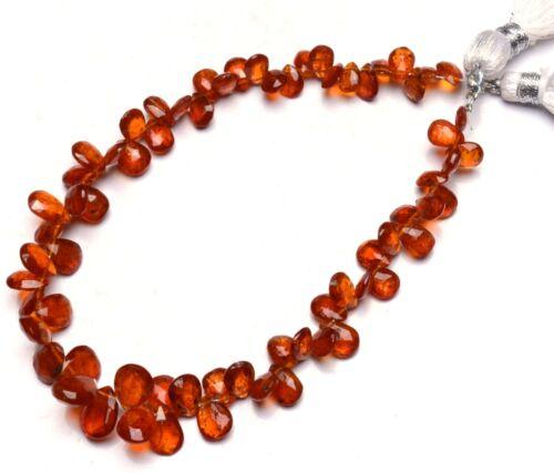 "Natural Rare Gem Orange Kyanite 7x5 to 9x7MM Faceted Pear Shape Briolettes 8.5"""