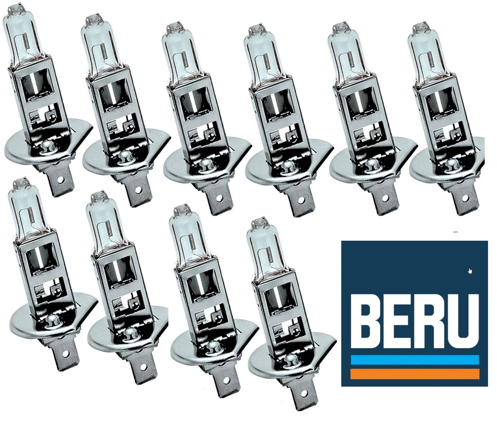 10x BERU 12V H1 55W Halogenlampe Lampe Glühlampe Autolampe Scheinwerfer Birne