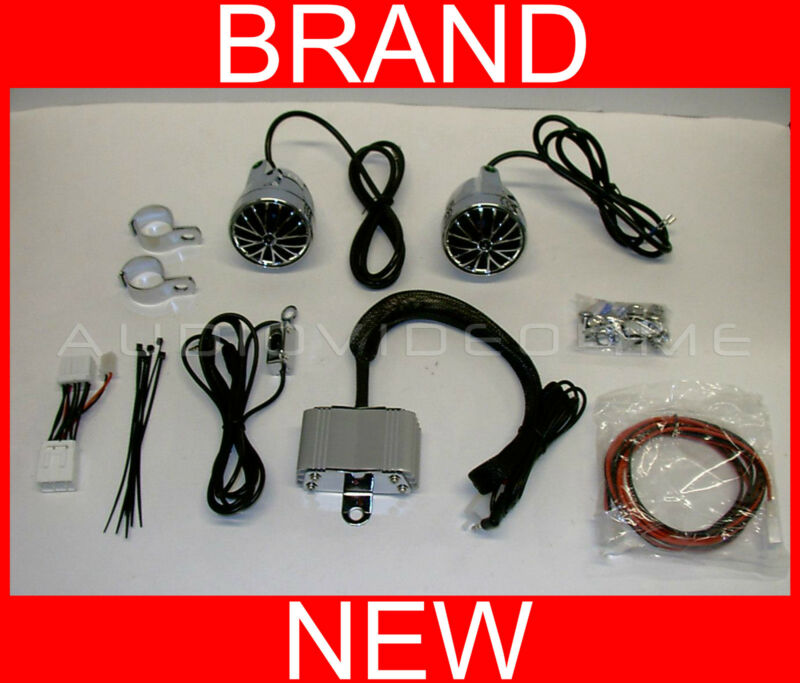 Motorcycle Stereo Sound Audio System+iPOD/MP3/AUX Input+400-Watt Amp+2 Speakers