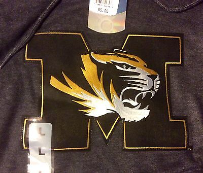 MISSOURI TIGERS HOODIE, SIZE L & M, NWT, ***OFFICIALLY LICENSED PRODUCT***