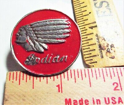 vintage Indian Motocycle pin collectible old biker vest USA MC cycle memorabilia