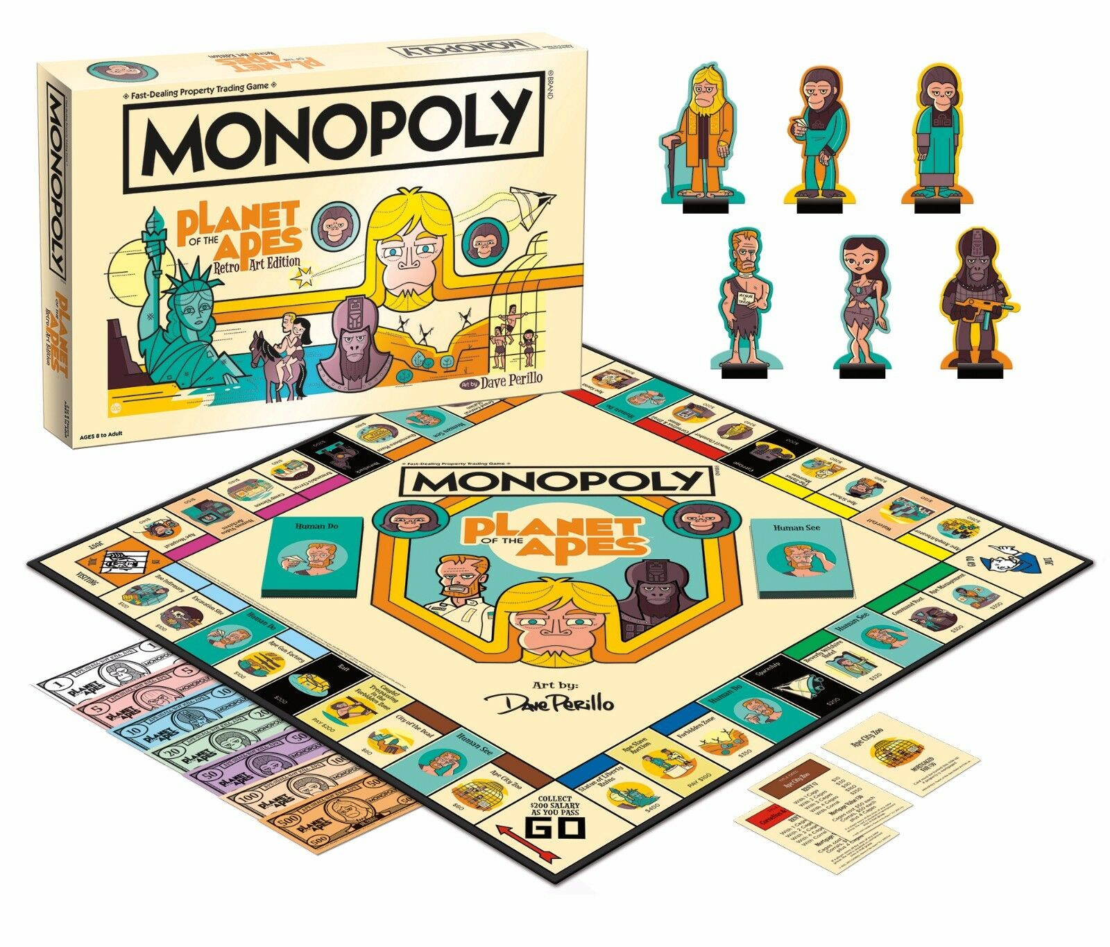 USAopoly MONOPOLY® Call Of Duty, IT, Guardians of The Galaxy, Warhammer  ... PlanetOfTheApes