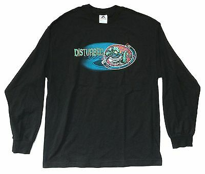 "DISTURBED ""WOMB RAIDER"" BLACK LONG SLEEVE SHIRT X-LARGE NEW OFFICIAL SALE"