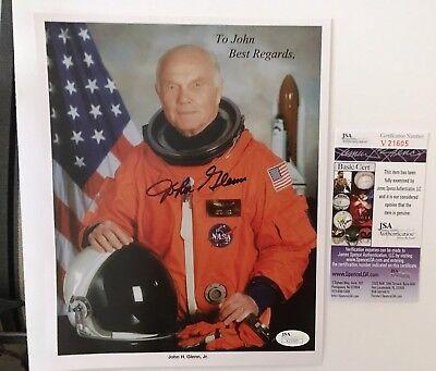 John Glenn Signed Autographed 8x10 Photo JSA