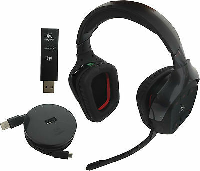 Logitech G930 Wireless Gaming 2 4Gh Headset Dolby 7 1 Surround Sound  Microphone
