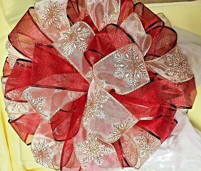 Ribbon Christmas Tree Topper Bows with streamers Large selection-fast shipping