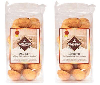 - Soft Italian Almond Amaretti Biscuits (No flour) 2x350g - Dolci Aveja