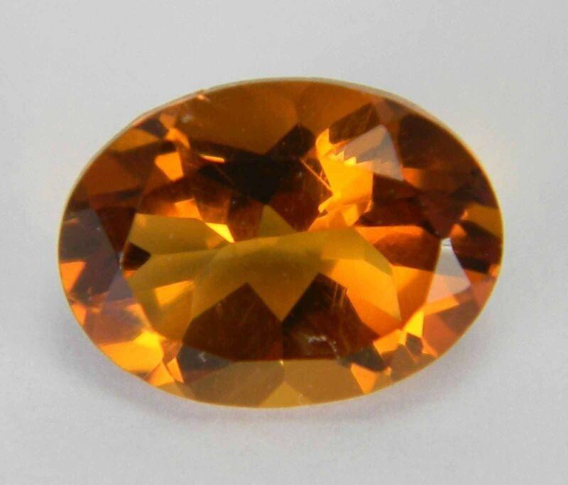 1.015 Carats Natural Orange Madeira Citrine Faceted Gemstone Oval MCT16