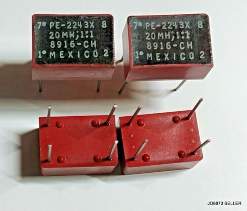 LOT OF 10 PULSE ENGINEERING TRANSFORMER PE2243X 1:1 20mH 2W