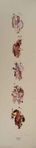 CAPRIOLE Powwow dancers fine art print by Oglala Sioux artist Donald Ruleaux