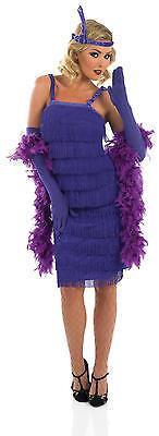 Damen Lila 1920er Gatsby Flapper Kostüm 8-30 Übergröße