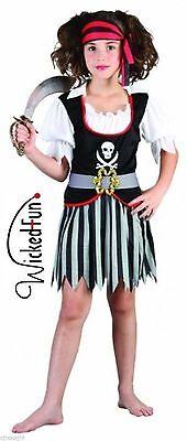 Piraten Mädchen Kostüm Kinder Party Verkleidung Outfit Kinder Büchertag Mädchen (Mädchen Piraten Outfit)