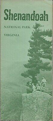 Official 1961 Road Map Brochure SHENANDOAH NATIONAL PARK Virginia Fire Lookouts Shenandoah National Park Map