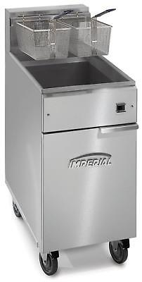 Imperial Range 40lb Electric Full Pot Fryer Floor Model With 2 Baskets