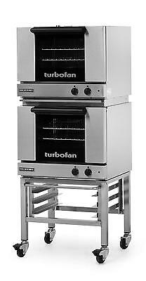 Moffat E22m32c Electric Double Convection Oven 3 Half Size Pan Mobile Stand