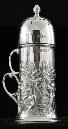 Art Nouveau Sterling Silver Sugar Castor, Birmingham 1902, T H Hazlewood & Co