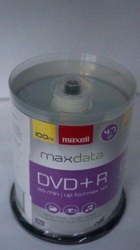 MAXELL Max Data 100 Pack RW DVD+R 16x 4.7 GB 120 Min Brand NEW Factory Sealed