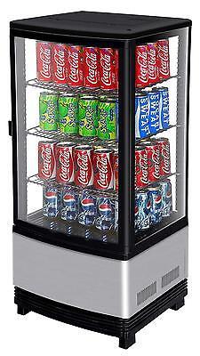 Turbo Air 3 Cu.ft Countertop Glass Beverage Display Merchandiser Crt-77-1r