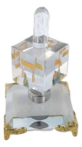 New Decor Chanukah Hanukkah Crystal Israel Dreidel&Display Sevivon top Spinning