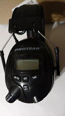 Protear Radio Ear Defender Safety Earmuffs With Amfm Radio Black