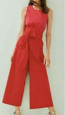 Ladies Mix/Isa Arfen Red/Pink Tie Waist Jumpsuit UK 14  EUR 42 RRP £190