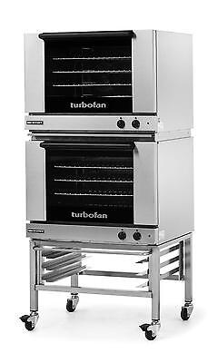 Moffat E28m42c Dbl Electric Convection Oven Full Size 4 Pan W Mobile Stand