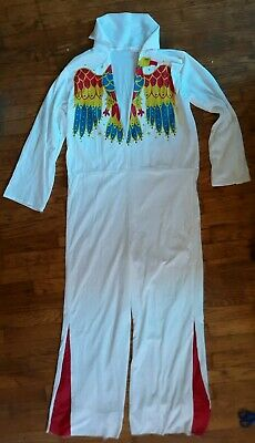 RARE VTG 1986 Elvis Presley Jumpsuit Collegeville Costume Med Hawaii Aloha Eagle