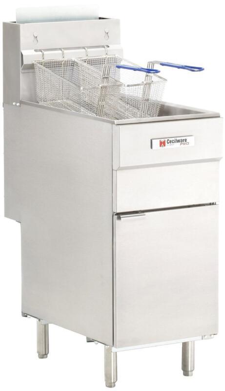 Gmcw Fms504nat 50 Lb. Floor Model S/s Nat Gas Fryer W/ (4) Burners 120 Kbtu