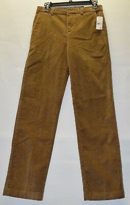 Brooks Brothers Youth Boys Brown Thick Wale Corduroy Pants 16 18 20 New