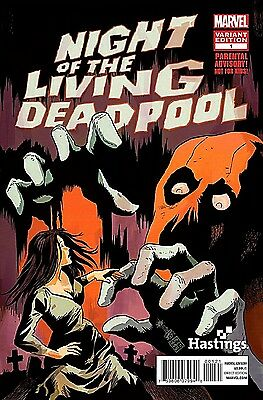 NIGHT OF THE LIVING DEADPOOL 1 NM RARE FRANCESCO FRANKAVELLA HASTINGS VARIANT