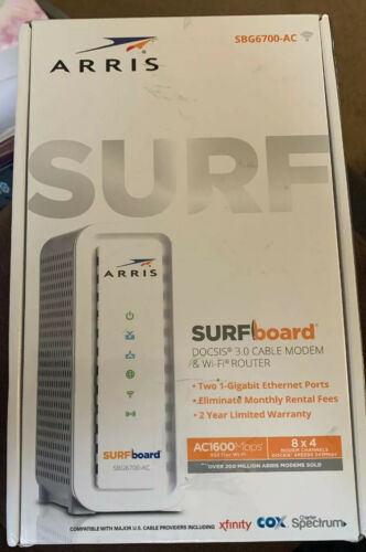ARRIS Surfboard DOCSIS 3.0 Cable Modem+AC1600 Dual Band Wi-F