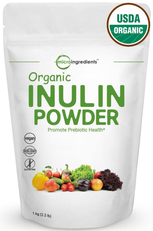 Premium Organic Inulin FOS Powder 1 Kg Prebiotic Intestinal Support