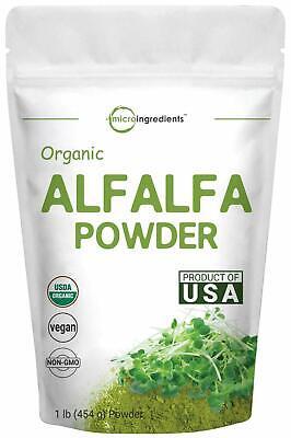 Organic Alfalfa Powder 1 Pound (16 Ounce) Best Green Superfoods Beverage