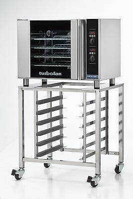 Moffat E31d4sk2731u Electric Convection Oven Half Size 4 Pan W Mobile Stand