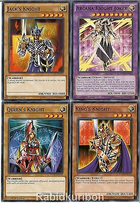 Yugioh Arcana Knight Joker Set - King's Queen's Jack's