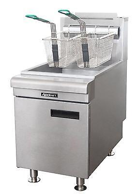 Adcraft Bdctf-75ng 45-50 Lb. Countertop Natural Gas Fryer