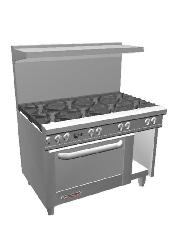 """Southbend S48dc 48"""" S-series Range W/ 8 Burners & Standard Oven"""