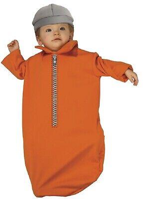 Infant Prisoner Halloween Costumes (Rubie's Costume Baby Bunting Jailbird, jail, prisoner,  0-9 Months,)