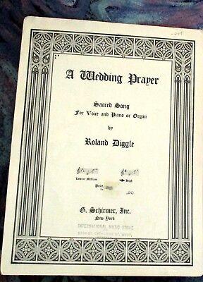 A Wedding Prayer (Sacred Song) Sheet Music 1940 (A Wedding Prayer)