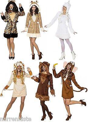 Affe Affen Giraffen Löwen Tiger Bär Bären Einhorn Drachen Damen Kleid Kostüm Hut