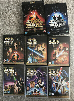 Star Wars DVD's Episodes 1 - 6, 2 DVD Special Edition Sets Remastered Boxset